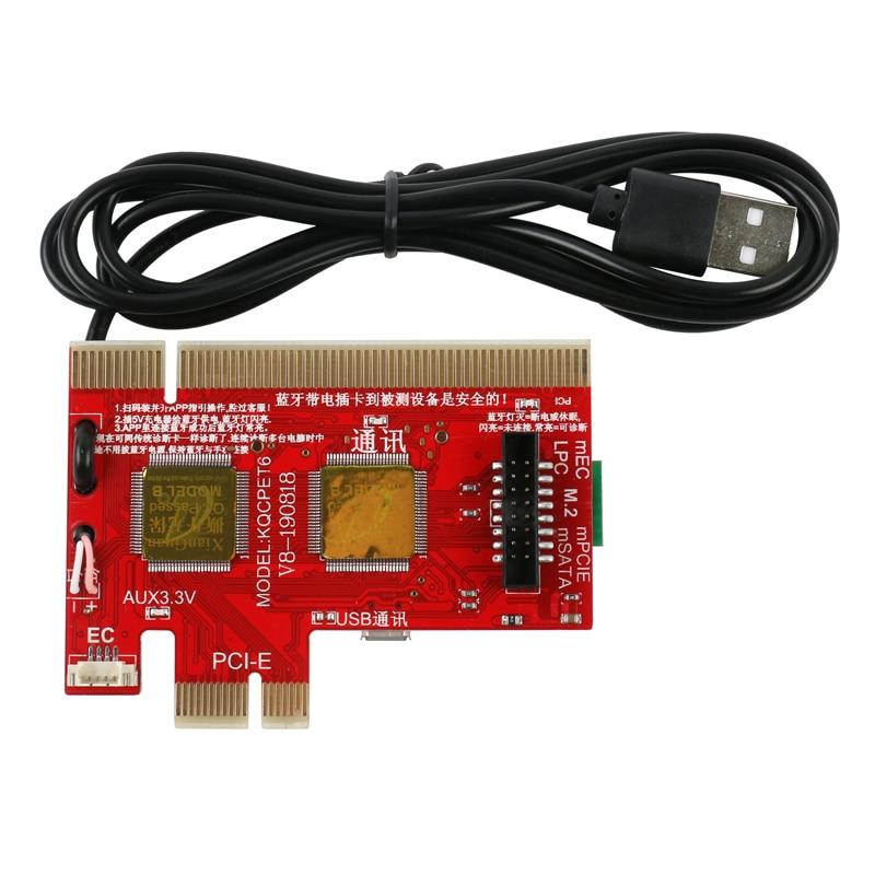 2021 KQCPET6 V8 Computers Mobile Phone Bluetooth Smart Diagnostic Card PCI/PCIE/LPC/MiniPCI-E/EC USB Tester