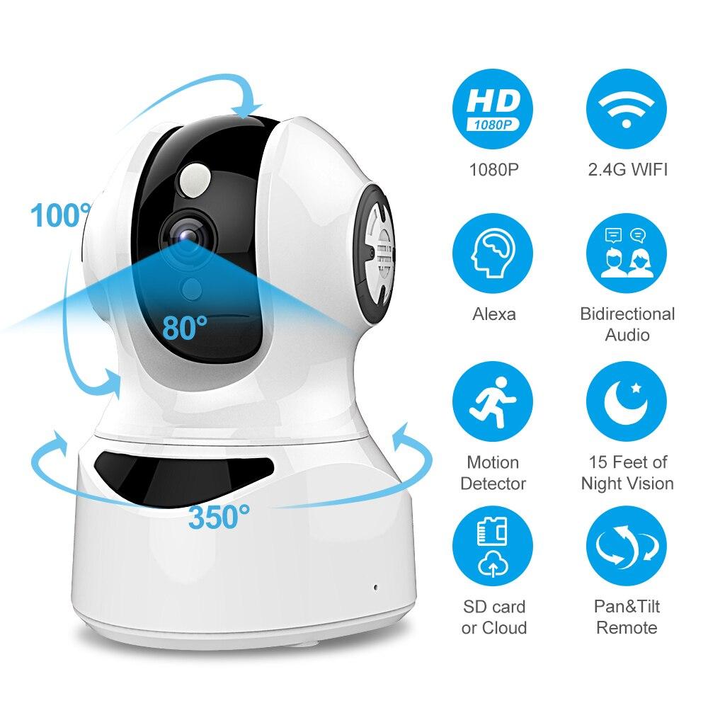 Flylinktech 2,4G WIFI IP Cámara al aire libre 2 vías de Audio inalámbrico visión nocturna 1080P HD vídeo CCTV cámaras de seguridad Monitor de bebé mascota