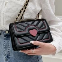 v line chain womens crossbody bags small flap quilted shoulder bag luxury pu leather messenger bag female brand design handbags