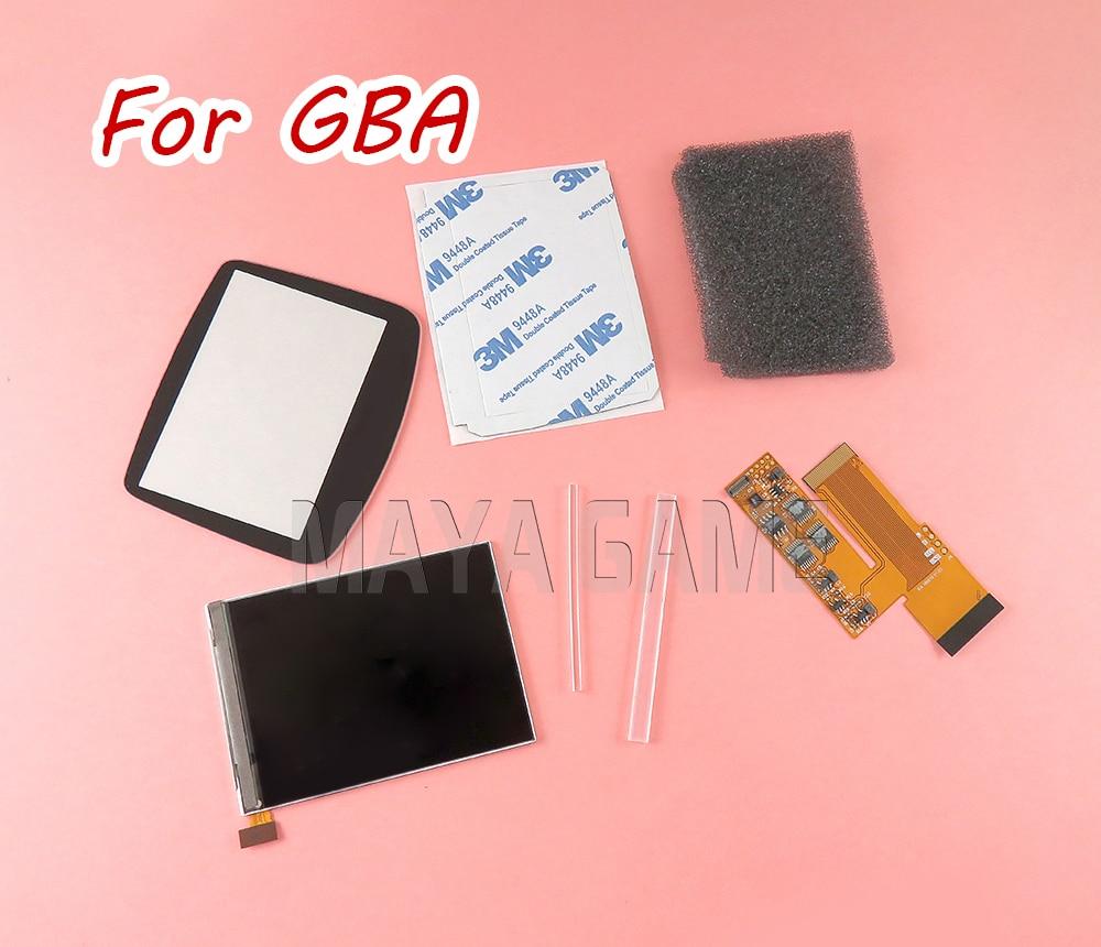 Per GBA Console Luminosità Regolabile 10 Livelli di Alta Luminosità IPS Retroilluminazione per Nintend GBA Console Retroilluminato Schermo LCD