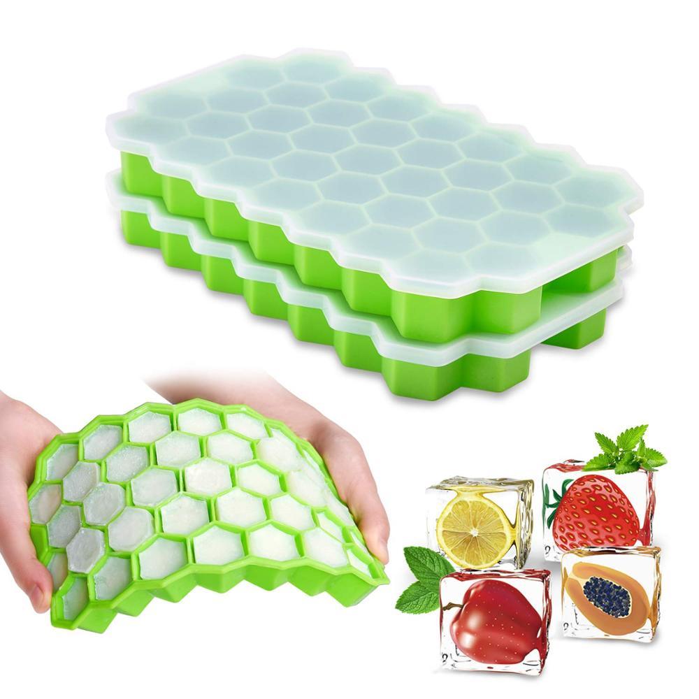 Küche Eiswürfel Silikon Sommer Obst Ice Cube Mold Lagerung Container Getränke Formen Maker Popsicle Home Zubehör