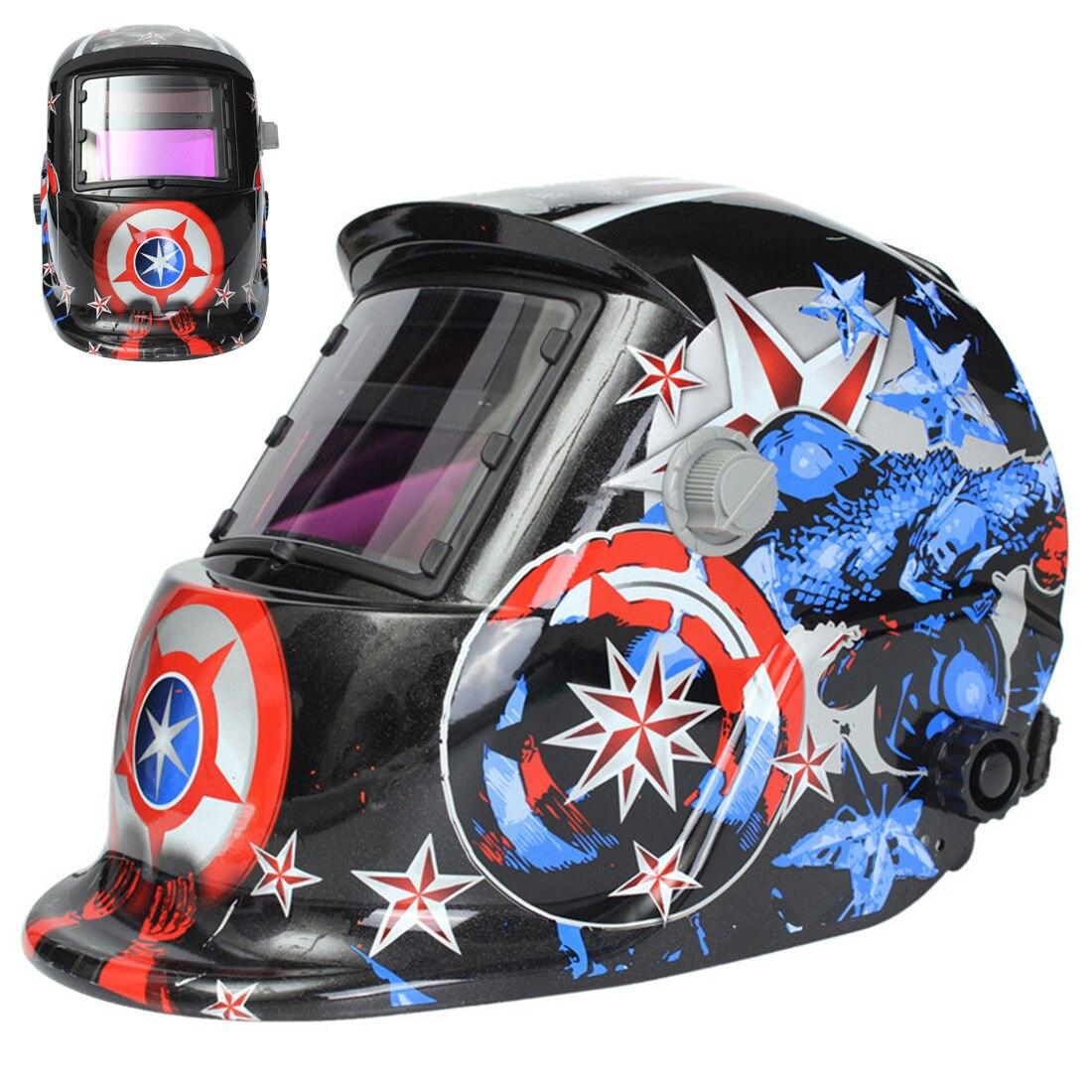 Portable Solar Weld Mask Electrowelding Auto-Darkening Welding Helmet