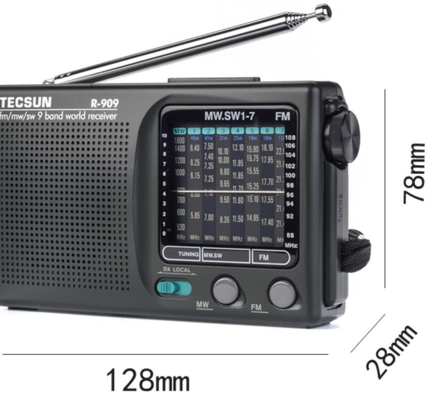 Tecsun Radio AM FM SW1 SW2 Full-Band Audio Portable Semiconductor Retro Speaker enlarge