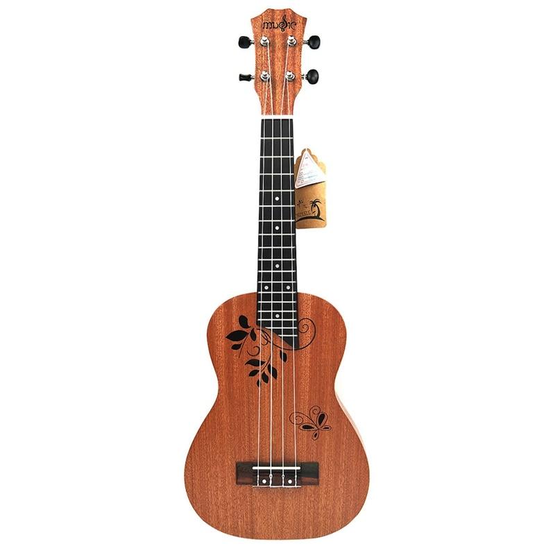 23 بوصة القيثارة الحفل القيثارة 23 بوصة 17 Frets الماهوجني 4 سلسلة الصوتية المبتدئين Hawai الغيتار
