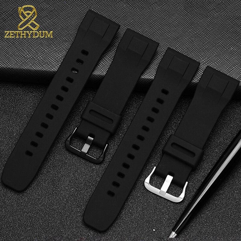 Силиконовый резиновый ремешок для часов 24 мм для casio PRG-600YB-3 prg-650 ремешок для часов водонепроницаемый браслет спортивные наручные часы