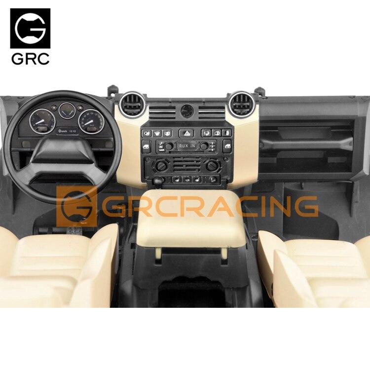 GRC TRAXXAS TRX-4 Defender Guard Yellow/orange interior TRX4 simulation center console seat steering wheel modification G161DH enlarge