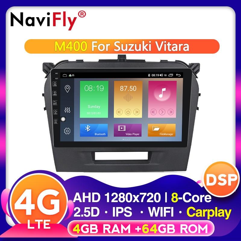 Car Multimedia player IPS DSP 4G LTE Android 10 for Suzuki Vitara 2015-2019 8 core WIFI GPS Navigation radio stereo 2din