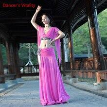 Ventre vêtements Costumes haut de gamme Performance vêtements costume diamant-Rose rouge poisson os Swing jupe livraison gratuite