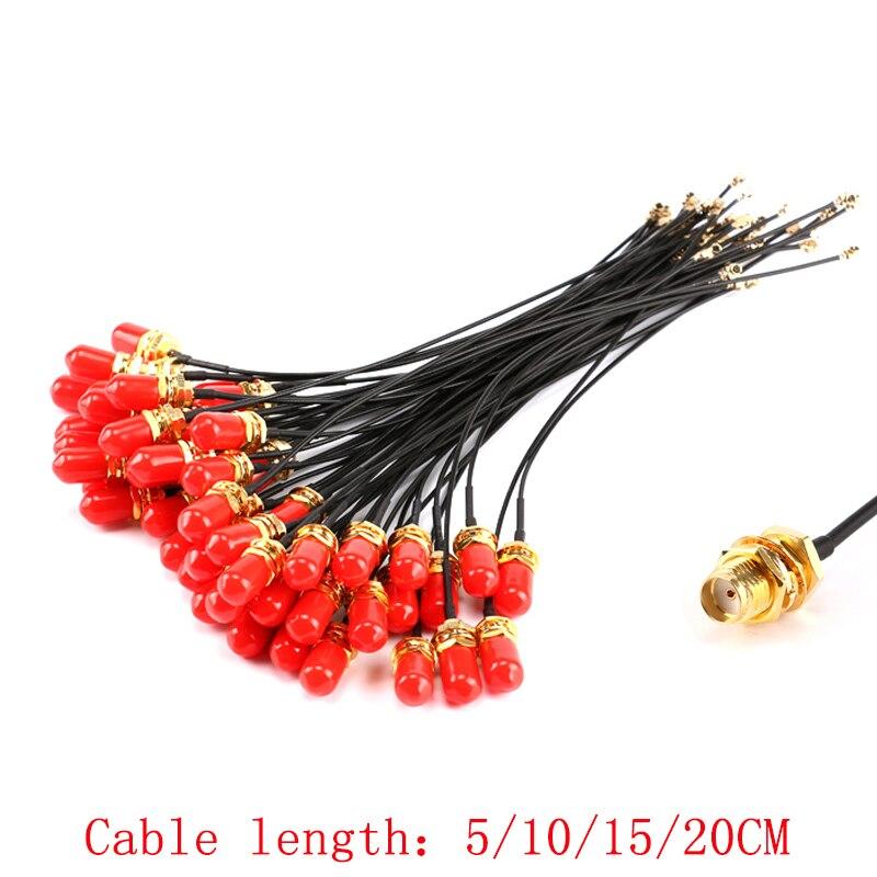 5 шт. SMA Прямой разъем IPEX RF гнездовой разъем RF косичка кабель uFL/u. FL/антенна IPX адаптер провода для wifi/GSM/gps 1,13 мм