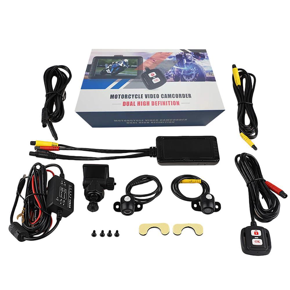 "Motorrad DVR SE100 3.0 ""Kamera 1080P HD Dual Objektiv Vorne Hinten Fahren Recorder Motorrad Nachtsicht Dashcam Kamera"