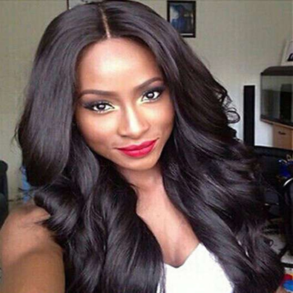 Long Loose Wave Synthetic Wigs For Women 26 inches Natural Color Wigs Average Size Synthetic Wigs Middle Parting Synthetic Wigs