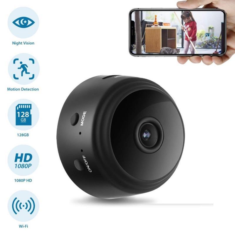 1080P Wifi мини камера Aisee APP удаленный монитор Домашняя безопасность 1080P ip-камера ИК Ночная Магнитная беспроводная камера Прямая поставка