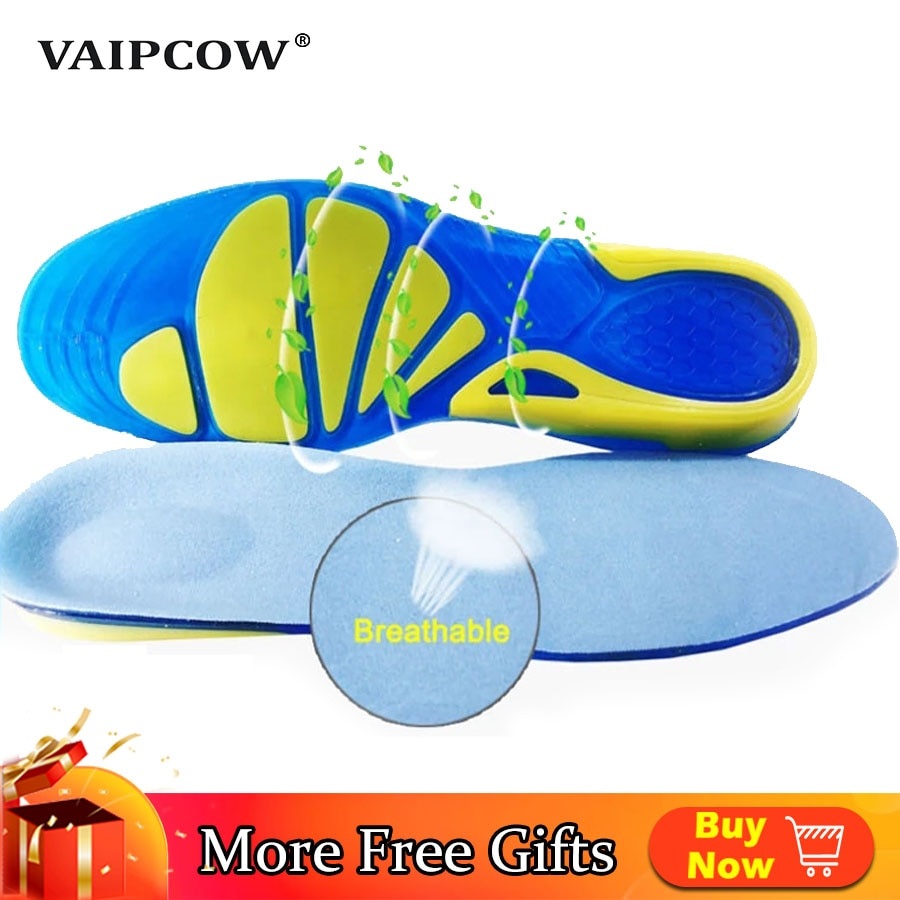 AliExpress - VAIPCOW Silicon Gel Insoles Foot Care for Plantar Fasciitis orthopedic Massaging Shoe Inserts Shock Absorption Shoe pad Unisex