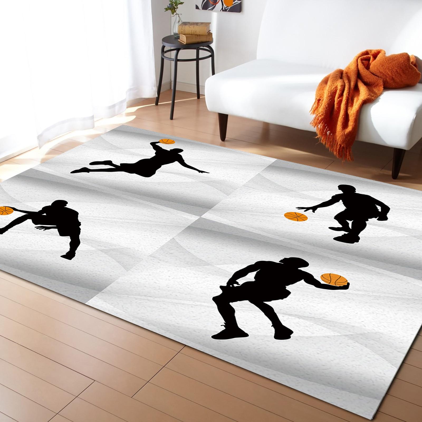 كرة السلة الرياضة رمادي خلفية السجاد غرفة نوم السرير بطانية البساط لغرفة المعيشة مرحاض السجاد ديكور غرفة نوم