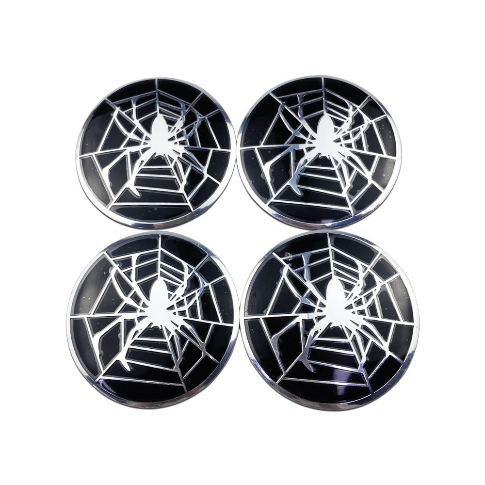 5.6cm For Spider Web Badge Car Accessories Wheel Cap Sicker for Honda Civic Kia Optima K5 Subaru Volkswagen Tyre Hub Cover Decal