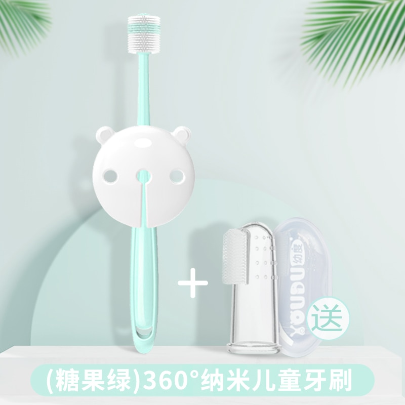 Kids Baby Toothbrush Silicone Anti Fizz Brush Toddler Teeth Brush Portable Training Tool Cepillo De Dientes Baby Items AC50YS