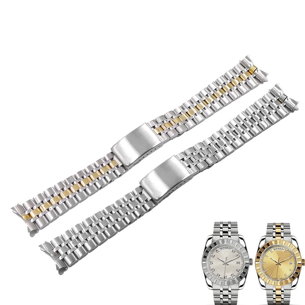 Rolamy 19mm 316L Acero inoxidable hueco curvado extremo tornillo enlaces reemplazo reloj pulsera Correa pulsera para Tudor