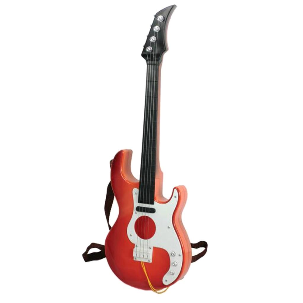Guitarra de juguete portátil de simulación, instrumento bajo de juguete, práctica, regalo