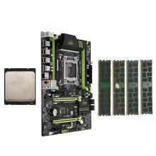 HOT-X79 LGA2011 carte mère Combo ensemble avec E5-2660 C2 CPU 4X4GB 16GB DDR3 RAM 4 ch 1333Mhz PCI-E NVME M.2 emplacement SSD