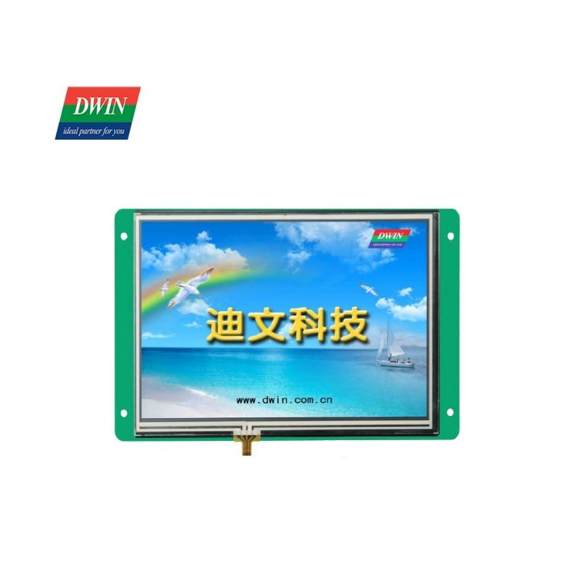 وحدة شاشة DWIN 7 بوصة TFT LCD, 800*480 HMI لوحة لمس صناعية ، وحدة عرض tft LCD UART الذكية DMT80480T070_06W