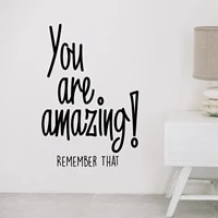free shipping you are amazing wall decal art vinyl stickers decor living room bedroom removable art decor wallpaper