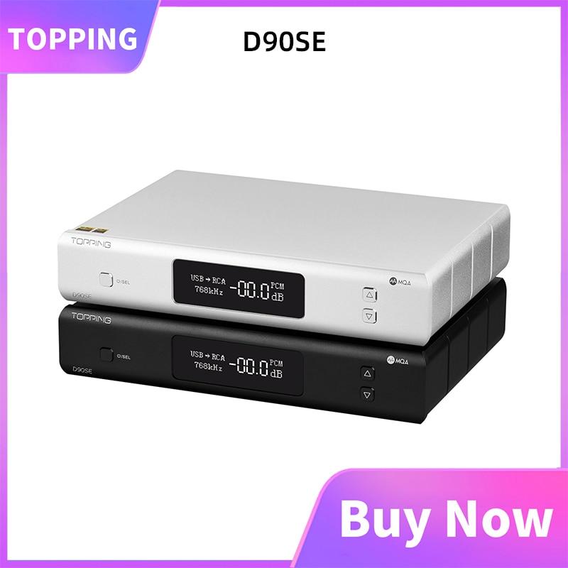 TOPPING D90SE MQA فك الترميز USB/محوري/بصري/AES الإدخال ES9038PRO الصوت اللاسلكية التوازن DAC LDAC بلوتوث 5.0 منخفضة الضوضاء preamp