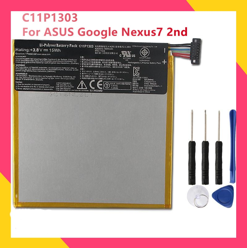 Оригинальный аккумулятор C11P1303 для ASUS Google Nexus7 2nd Nexus 7 II ME571 K009 K008, сменные аккумуляторные батареи 3950 мАч