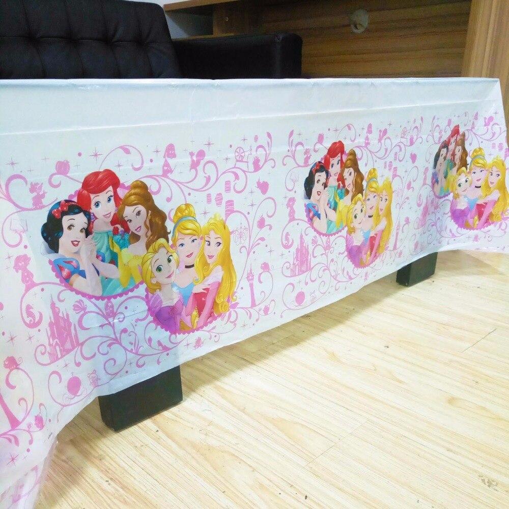 132 см * 220 см, одноразовые скатерти для дня рождения, три принцессы, детские пластиковые скатерти для вечеринки в честь Дня Рождения, Товары дл...