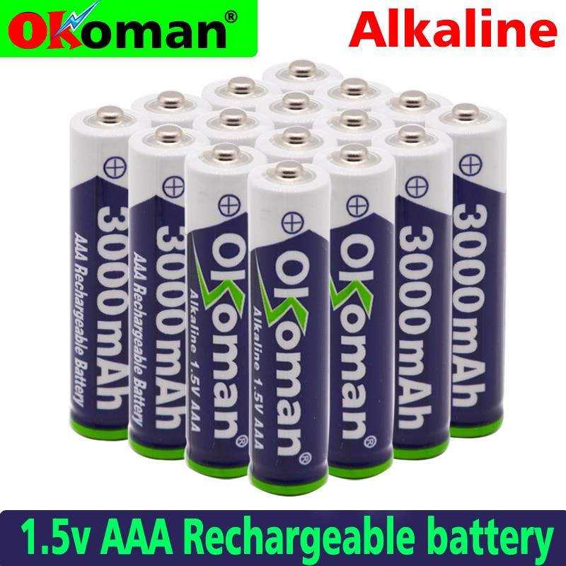 Nueva Marca AAA 3000mah 1,5 V batería alcalina AAA batería recargable para Control remoto juguete batería envío gratis