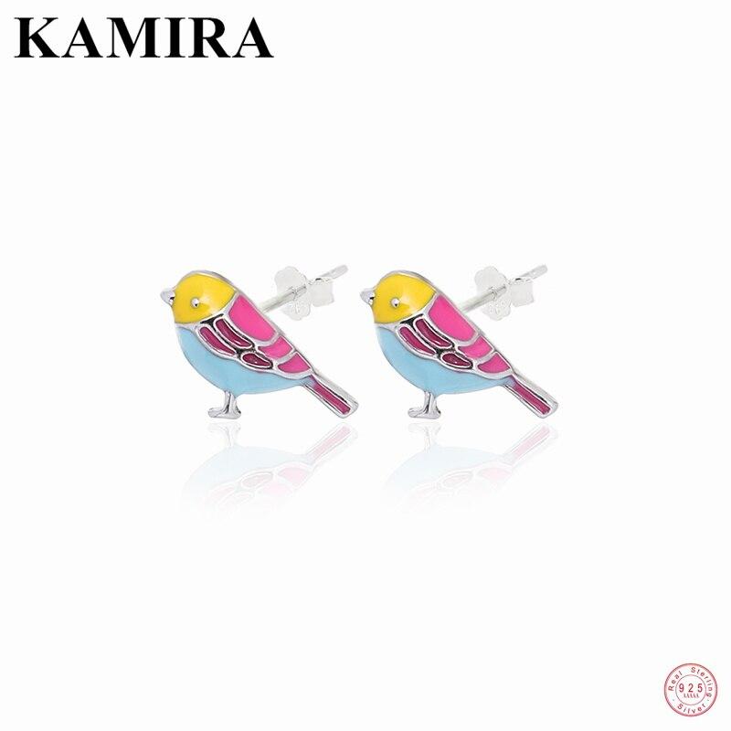Камира-реальные-925-стерлингового-серебра-в-Корейском-стиле-с-яркими-рисунками-из-мультфильма-про-динозавров-птица-серьги-гвоздики-для-женщ