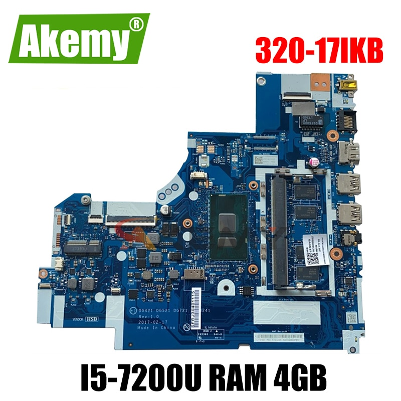 Akemy لينوفو 320-15ISK 320-15IKB 320-17IKB دفتر اللوحة DG421 DG521 DG721 NM-B241 i5-7200U RAM 4GB اختبار اختبار