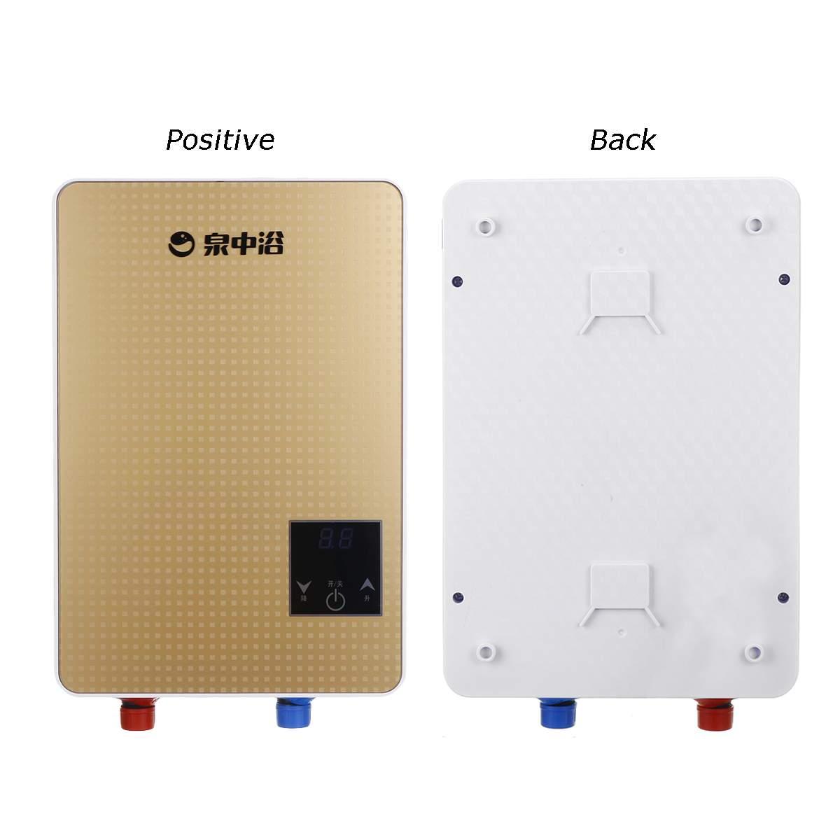6500W 220V Electric Hot Water Heater Tankless Instant Boiler Bathroom Shower Set Thermostat Safe Intelligent