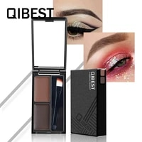 qibest color double acting lazy eyebrow mei gao waterproof antiperspirant durable easy coloring difficult makeup cosmetic gift