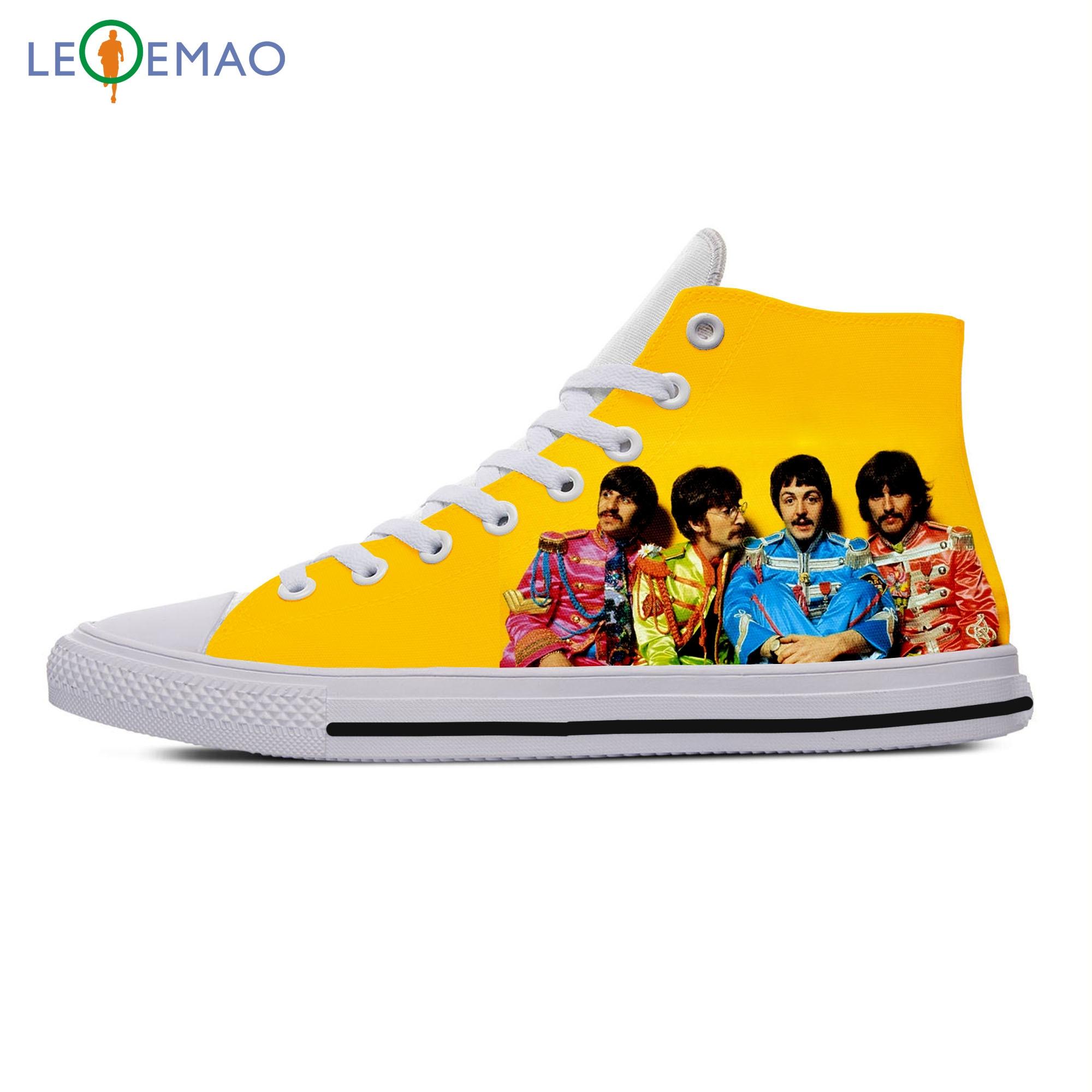 Sapatos de Lona o b e a t l e s Personalizado Primavera Outono Alta Qualidade Handiness Masculino Sapatos Casuais Confortáveis Grandes Branco Zapatillas