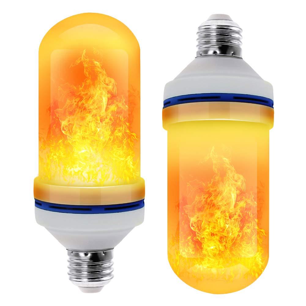 110 В 220 в E27 светодиодная лампа с эффектом пламени лампа цвета огня датчик тяжести кукурузные лампы факел Декор лампа динамическая подсветка 4 режима креативная лампа