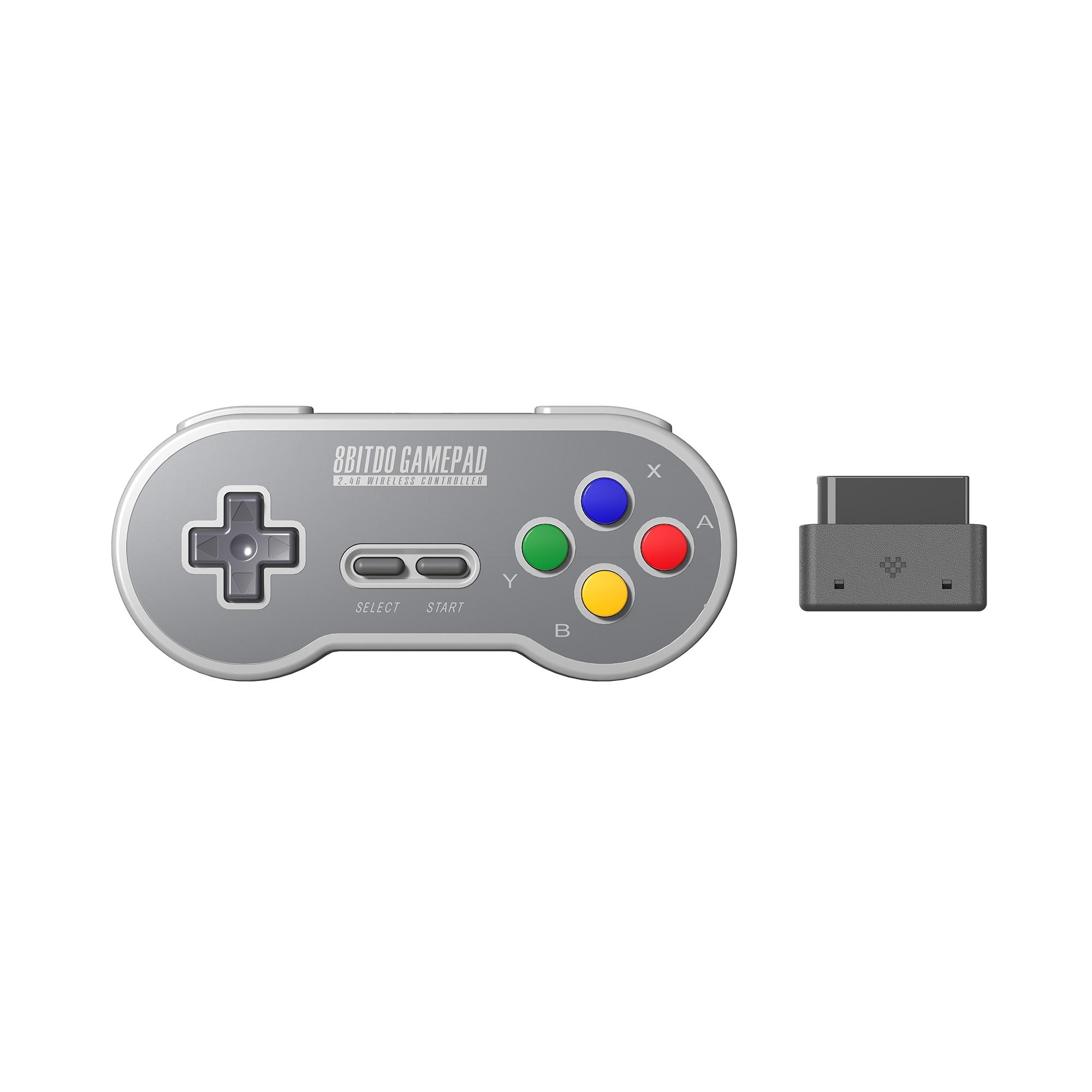 8BitDo SN30 2.4G Wireless Gamepad for Original SNES/S FC (SN Edition) - Super NES