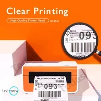 ups thermal label printer high printing speed with best quality 20 108mm printing width support windows and mac mini printer