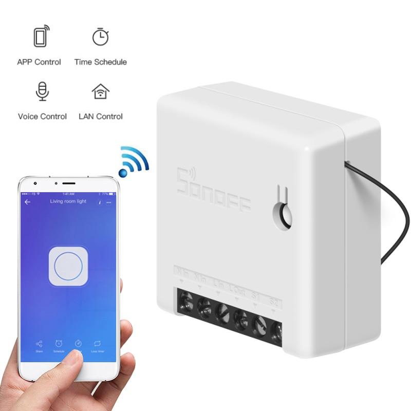 10 Uds. SONOFF WiFi DIY interruptor inteligente temporizador de 2 vías interruptor de voz Control remoto IFTTT eWeLink App funciona con Alexa/Google home