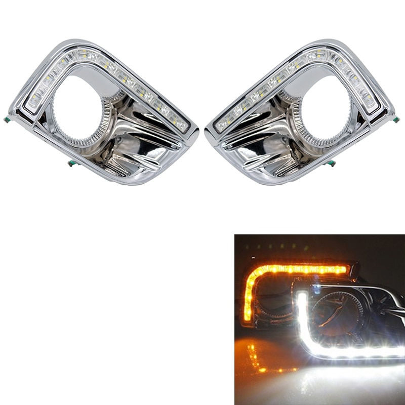 For Toyota Prado 150 Fj150 Lc150 2010-2013 Land Cruiser Led Daytime Running Lights Drl Fog Lamp Cover Driving Lights