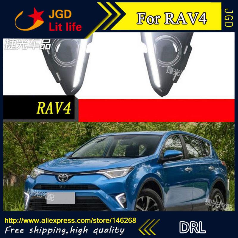 Livraison gratuite! 12V 6000k LED feux diurnes DRL pour Toyota RAV4 2016 2017 phare antibrouillard cadre antibrouillard