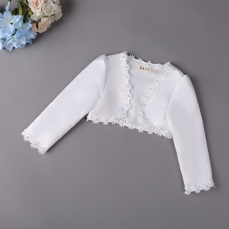 New Fashion Baby Girls Bolero Children Lace Hollow Out Short Jacket Kids Wedding Party Coat Cape