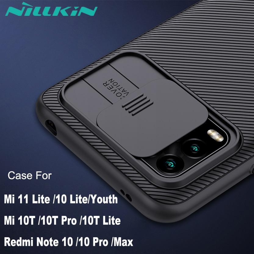 Camera Protection Case For Xiaomi Redmi Note 10 Pro Cover Mi 10T Pro MI 11 Lite NILLKIN Camshield Slide Cover Lens Protection