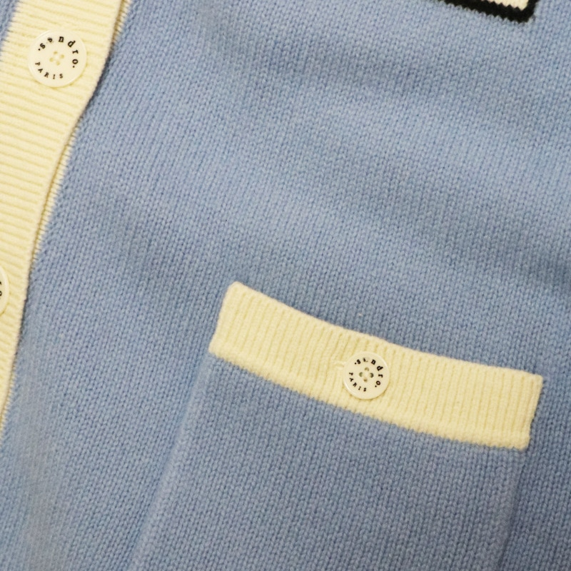 Gezelligheid 2021 Autumn Winter Runway Fashion Elegant Casual Temperament Letter V-Neck Knitted Cardigan Jacket Sweater Tops enlarge