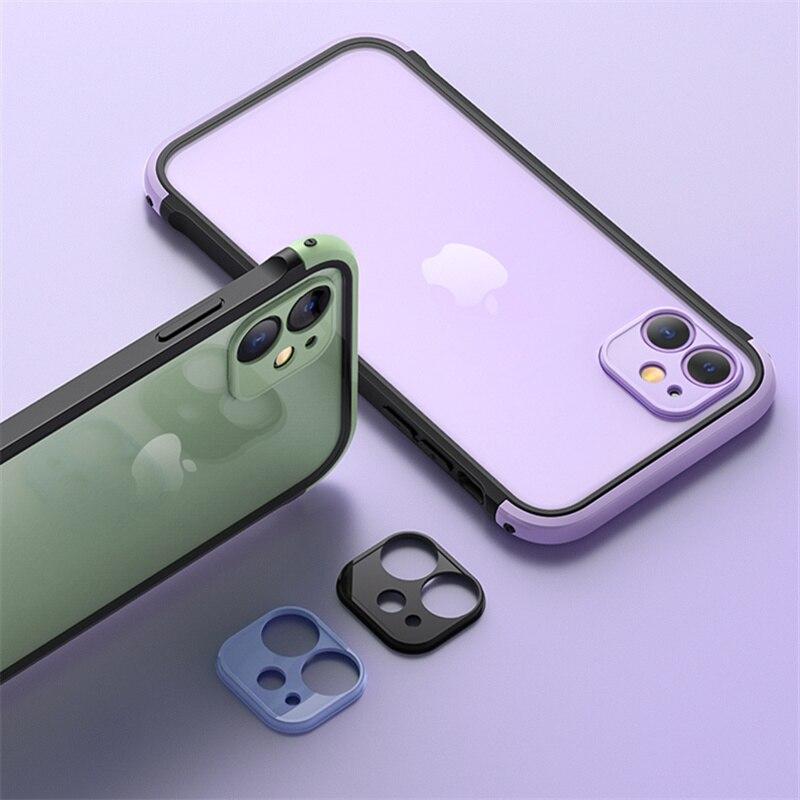 Funda de teléfono a prueba de golpes, de color, para iphone 11 11Pro X XR XS Max SE 7 8 Plus, funda anticaída, funda protectora