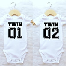 Twin Life Twins Matching Baby Bodysuit Boys Girls Gift for Twins Twin Boys Jumpsuit Wear Unisex Newb