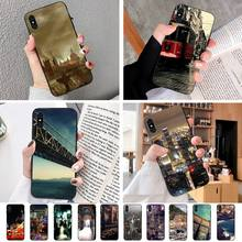 Bloeiende Stad Zachte Zwarte Telefoon Case Voor Iphonex Xs 11 11Pro 5 5S Se 6 6S Plus 7 8 Se 2020 Case
