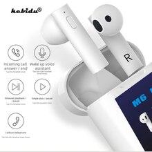 M6 PLUS TWS 5.0 Wireless Bluetooth Headphone LED Smart Power Display Earphone With Electronic Temperature Measurement Headset