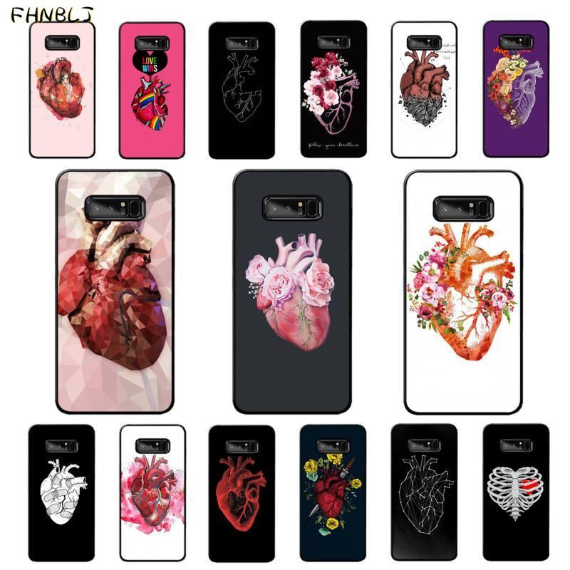 Funda FHNBLJ para teléfono móvil con arte de riñón y cerebro meridiano para Samsung note 3 4 5 7 8 9 10 10pro plus M10 M20