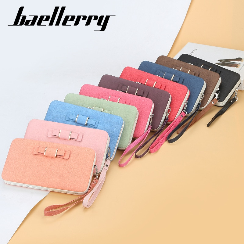 Women Tassel Large Capacity Wallets Cell Phone Bag Ladies Brand Leather Wallet Clutch Bag Female Cre