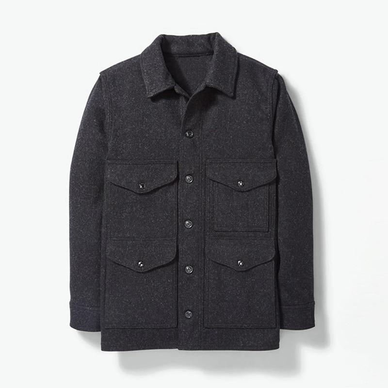 Мужская рубашка большого размера с начесом, клетчатая рубашка с карманами, Мужская Утепленная рубашка с длинными рукавами в стиле ретро, Ос...